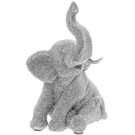 Sitting Diamante Elephant Figurine
