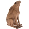 Wooden Sitting Gazing Hare Ornament