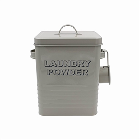 Cream Laundry Powder Storage Container