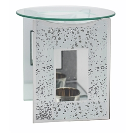 Silver Glittered Mirror Oil Burner