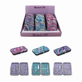 Glitter Tie Dye Manicure Set 3 Assorted
