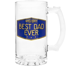 Glass Gent's Society Best Dads Tankard