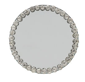 Diamante Mirror Candle Plate 10cm