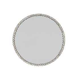 Diamante Mirror Candle Plate 20cm