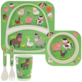 Bambino Eating Set Farm Animals