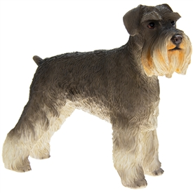 Resin Grey & White Schnauzer