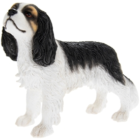 Resin Black & White Cavalier King Charles Spaniel