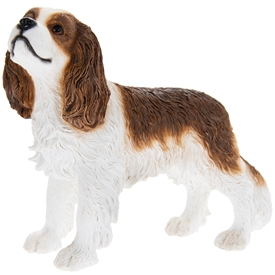 Resin Brown & White Cavalier King Charles Spaniel