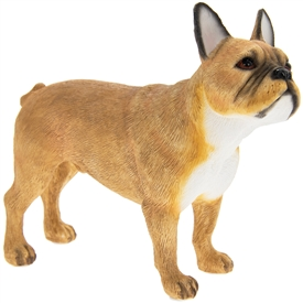 Resin Brown & White French Bulldog
