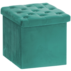 Green Velvet Folding  Storage Box