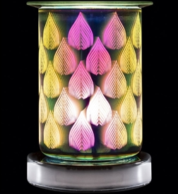 Desire Tube Shaped Glass 3D Aroma Lamp - Flames