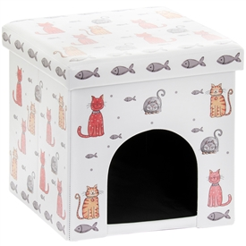 Faithful Friends Cat Design Bed Box