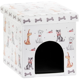 Faithful Friends Small Dog Design Bed Box