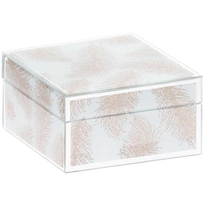 Low Wholesale Prices Rose Gold Jewellery Box With Feather Design