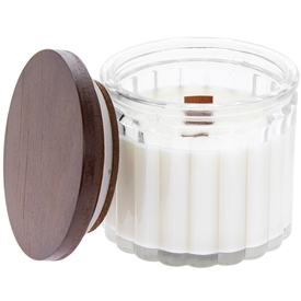 Wooden Wick Glass Vanilla Candle (Small)