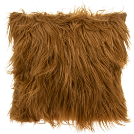 Furry Cushion Brown 40cm