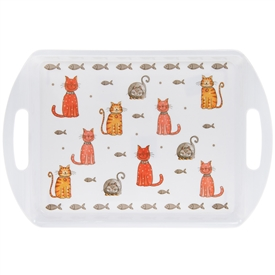 Faithful Friends Cat Design Medium Serving Tray