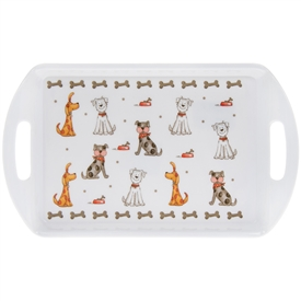 Faithful Friends Dog Design Small Serving Tray