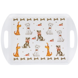 Faithful Friends Dog Design Medium Serving Tray