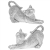 Stretching Diamante Cat Figurines
