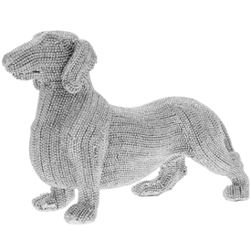 Standing Diamante Dachshund Dog Figurine
