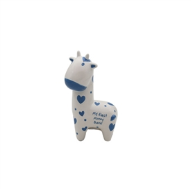 Blue And White My First Giraffe Money Bank