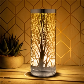 Amber And Silver Aroma Lamp 26cm