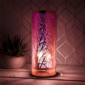 Lilac And Rosegold Aroma Lamp 26cm