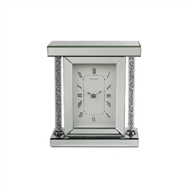 Crystal Clear Glass Clock with Diamante Design