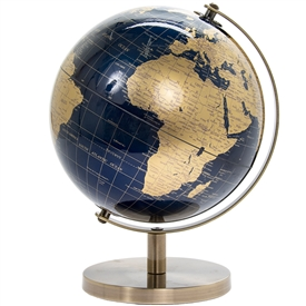 Gold And Blue Globe 27cm