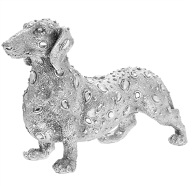 Silver Decorative Dachshund with a Diamante Design