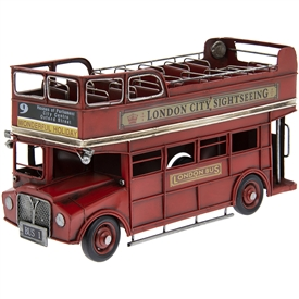 Vintage Red Open Top London Double Decker Bus