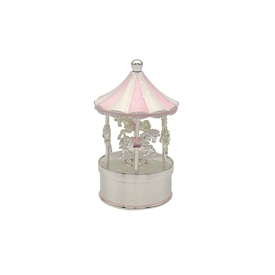 Pink and White Musical Carousel