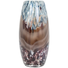 Vicenza Blue and Brown Glass Vase (Small)