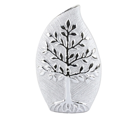 Silver Decorative Vase With a Wonderful Tree Design