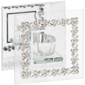 Mirror Diamante Tealight Holder