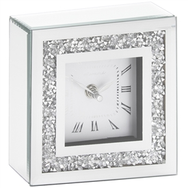 Crystal Mirror Clock 15cm