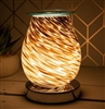 Glass Aroma Lamp with Touch Sensitive Base - Glitter Storm