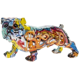 Graffiti Art Bulldog Standing 26cm