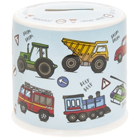 Little Stars Money Box Vehicle 10cm