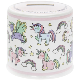 Little Stars Money Box Unicorn 10cm