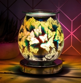 Touch Sensitive Round Aroma Lamp - Butterflies