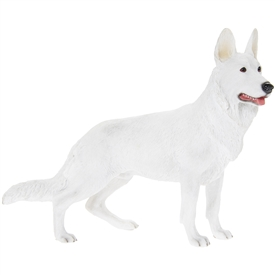 White German Shepherd Dog Ornament 20cm