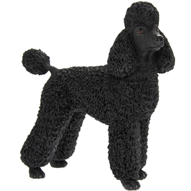 Black Poodle Dog Ornament 15cm