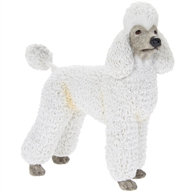 White Poodle Dog Ornament 15cm