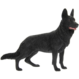 Black German Shepherd Dog Ornament 20cm