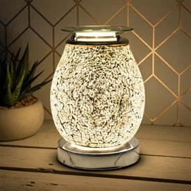 Touch Sensitive Aroma Lamp - Silver Mosaic