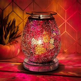 Glass Mosaic Touch Aroma Lamp - Ruby Eggshell