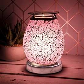 Glass Mosaic Touch Aroma Lamp - Pink