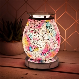 Glass Mosaic Touch Aroma Lamp - Venus Eggshell